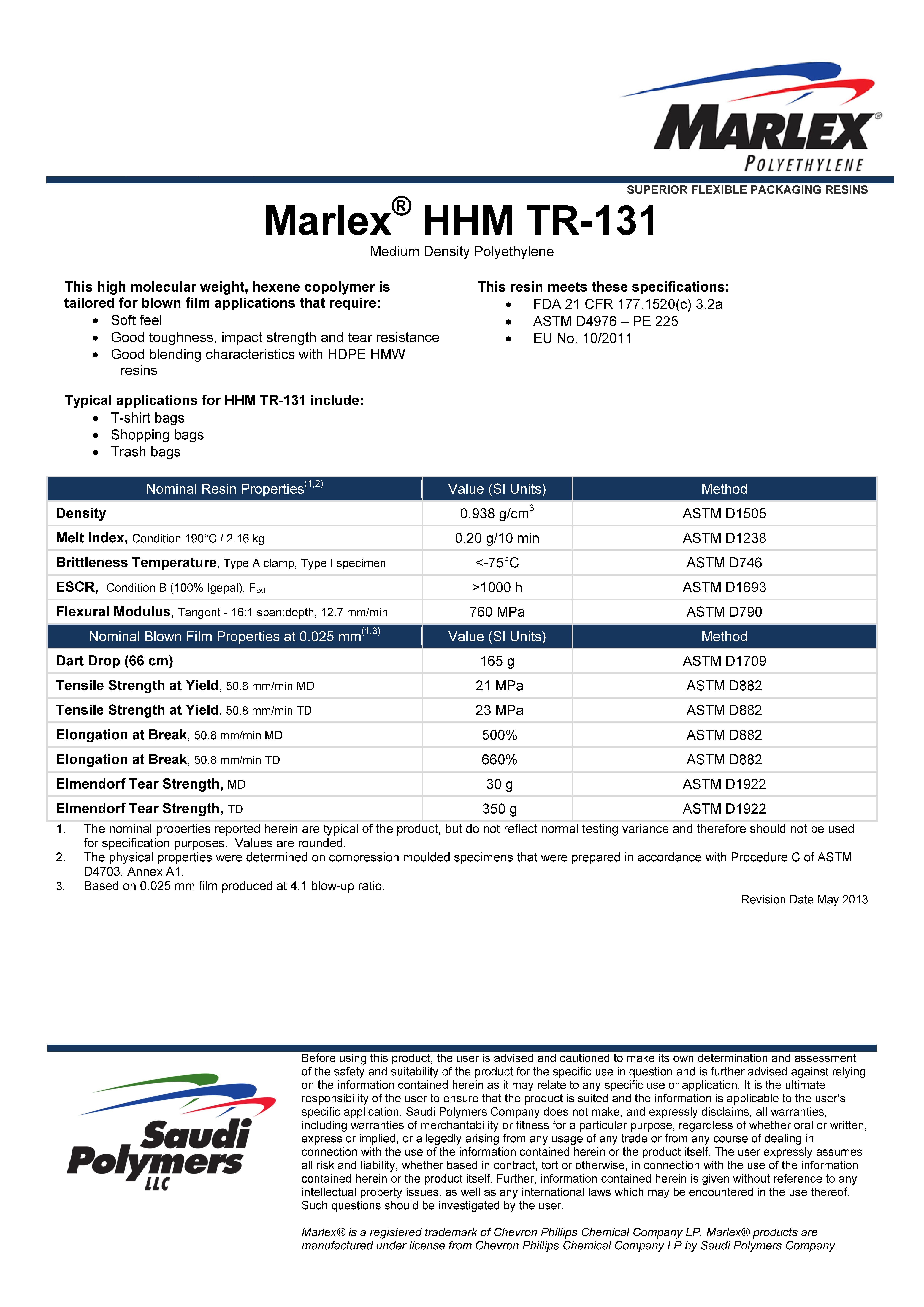 Marlex Hdpe